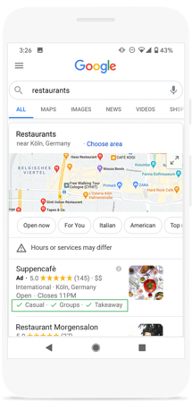 attributes local campaigns google ads