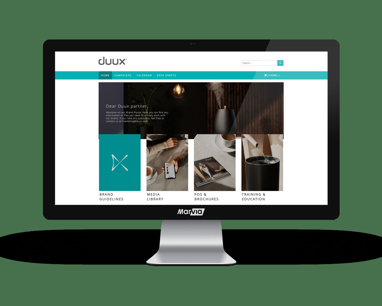 Duux Brand Portal homepage